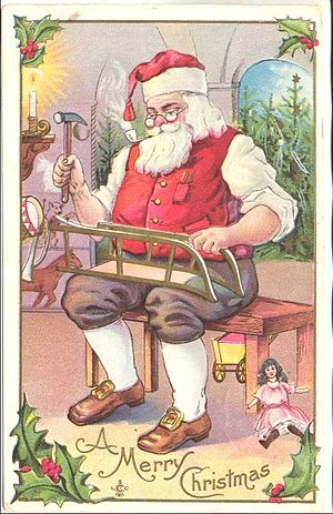 Christmas postcard, 1911