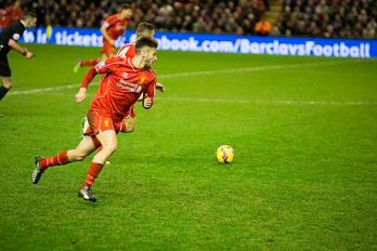 Adam Lallana v Arsenal 2014