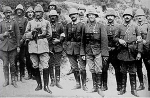 Mustafa Kemal Bey with Ottoman military office...