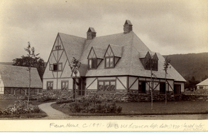 Brook Farm circa 1891, farmhouse was a part of...