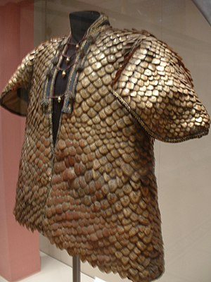 A coat of armor made of pangolin scales, an un...