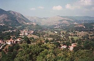 Comino valley in the Latium region of Italy. P...