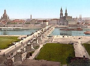 Altstadt (old city), Dresden. View from the Wa...