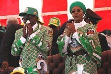 Mugabe and his wife in 2013