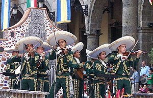 A mariachi band at the XIII Encuentro Internac...