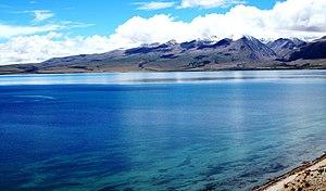 Lake Mansarovar and the Tibetan Himalayas