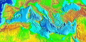 Mediterranean Sea surface