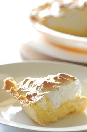 Mum's lemon meringue pie slice.