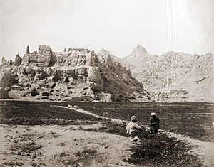 Ruins of old Kandahar Citadel that was destroy...