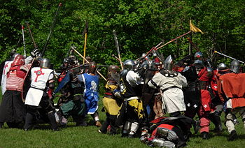 English: Melee fighting in the Society for Cre...
