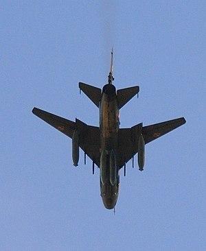 Su-22 in flight, near Gniezno, Poland.