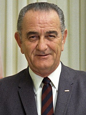 Portrait of President Lyndon B. Johnson Deutsc...