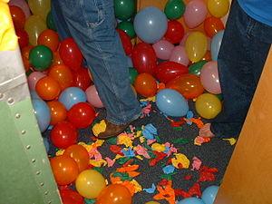 Practical jokes where balloons blocked entry i...