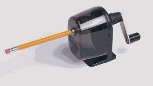 Hand cranked pencil sharpener, cropped and con...