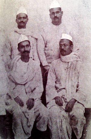(Sitting L to R)Rajendra Prasad and Anugrah Na...