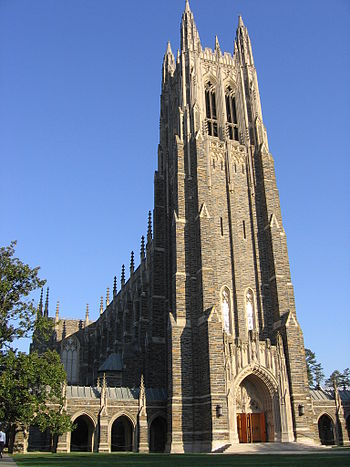 Duke Chapel, a frequent icon for the universit...