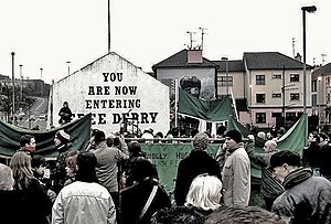 28.01.2007 Derry, Ireland Bloody Sunday 35th y...