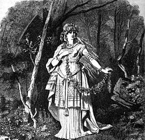 Freya. The goddess Freyja, in the woods.