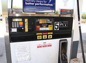 Pay-at-the-pump gasoline pump in Indiana, Unit...
