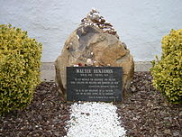 Grave of Walter Benjamin in Portbou, Spain