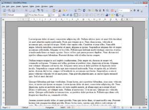 English: Screenshot of opensource office suite...