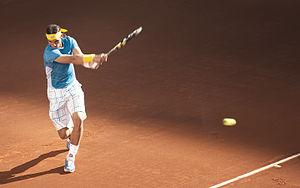Español: Rafael Nadal durante la final del tor...