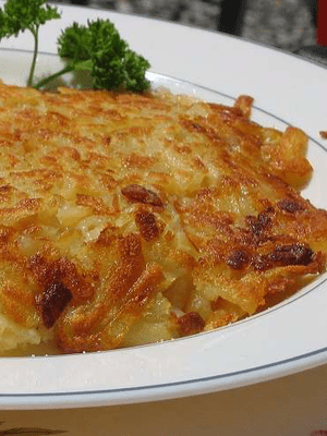 English: Rösti, the Swiss potato dish.