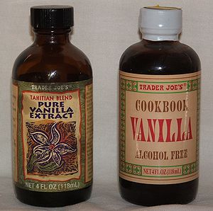 Two types of vanilla extract
