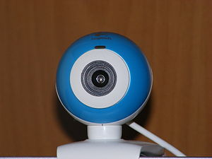 English: A Logitech QuickCam Chat for Skype we...