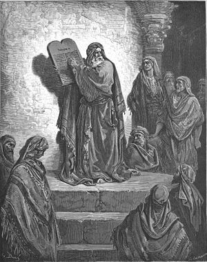 English: Ezra Reads the Law to the People (Neh...