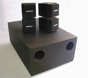 English: photograph of my 1989 Bose Acoustimas...