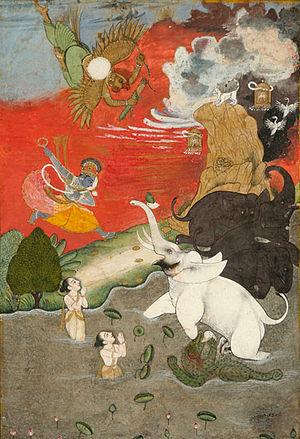 Vishnu Saving Gajendra Moksha