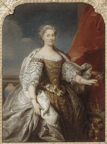 Catherine Opalinska, par Jean-Baptiste van Loo