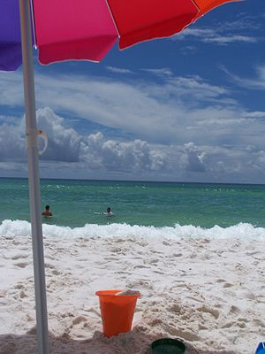 English: Beach at Destin, Florida: sand, ocean...
