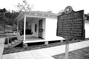 English: Boyhood home of Elvis Presley.