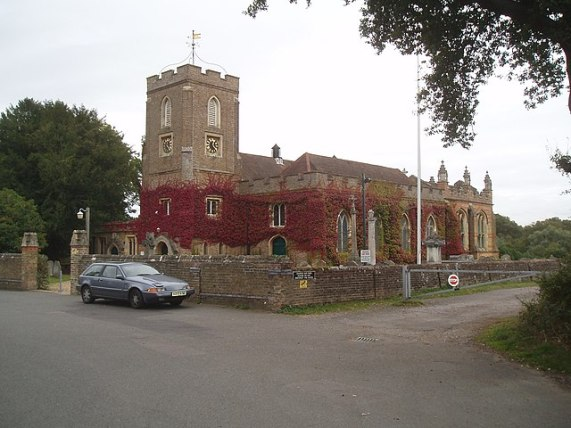 St Michael and All Angels parish church, Sunninghill, Berkshire, seen from the southwest
