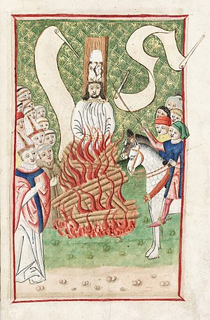 Jan Hus being burned at the stake