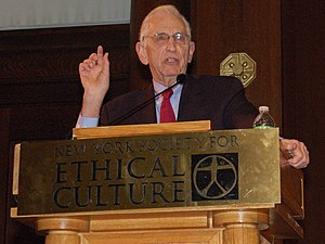 Daniel Ellsberg speaking at the New York Socie...