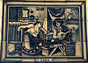 """Fado"", one of the Azulejos at Estra..."