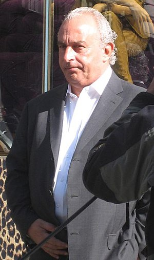 British billionaire businessmen Philip Green o...