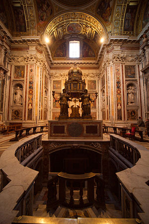 English: Tabernacle in the Sistine Chapel of B...
