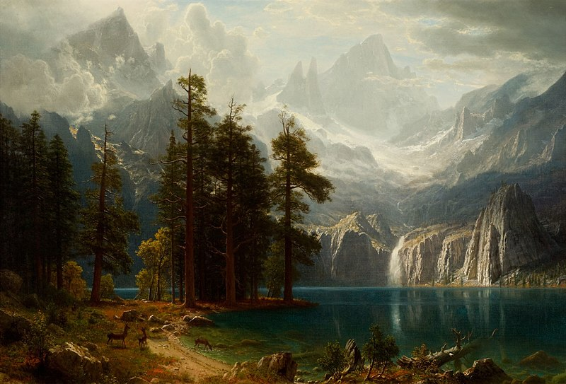 File:Sierra Nevada Albert Bierstadt circa 1871.jpeg