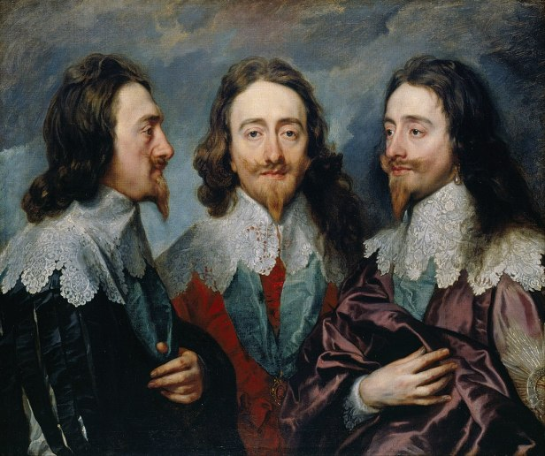 """""""Triple Portrait of Charles I"""" by Anthony Van Dyck"""
