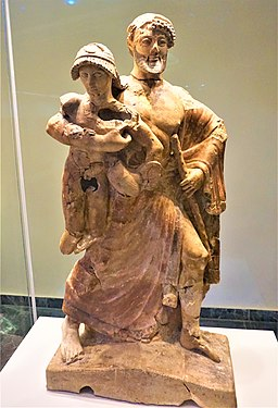 Statue of Zeus and Ganymede - Archaeological Museum of Olympia