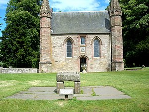 English: A replica of the Stone of Scone at Sc...