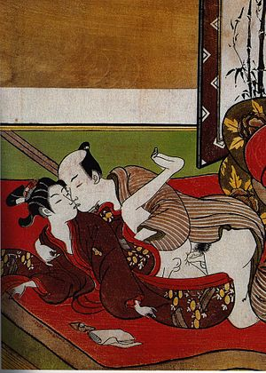 detail of a Shunga(erotic woodblock print)
