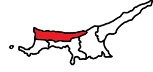 Locator map of the district of Girne (Kyrenia)...
