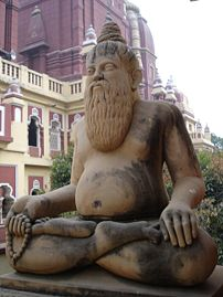A sculpture of a Hindu yogi in the Birla Mandir, Delhi
