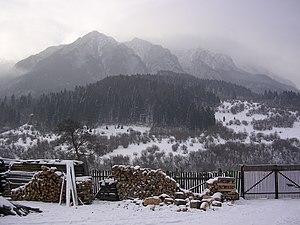 English: View of the Piatra Craiului mountains...