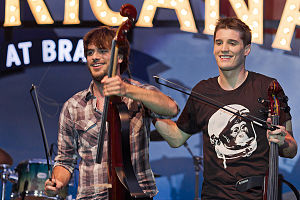 The 2Cellos (from left: Stjepan Hauser and Luk...